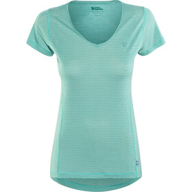 Fjällräven Abisko Cool - Camiseta manga corta Mujer - Azul petróleo